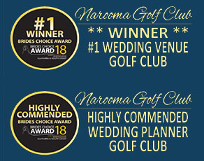 Narroma Golf Club Wedding Awards